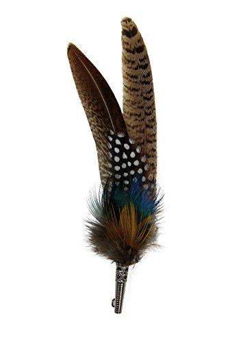Gollwitzer Schmuckfedern Echte Hutfeder von Fasan, Pfau und Goldfasan, mit Hülse, für den Trachtenhut