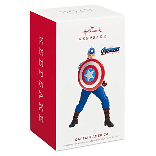 Hallmark Marvel Studios Avengers: Endgame Captain America Ornament Movies & TV; Superheroes