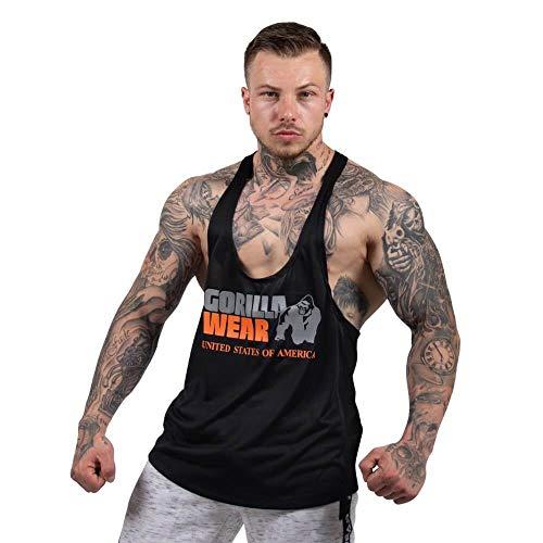Gorilla Wear - Herren Stringer Tank Top - Nashville - Fitness Bekleidung Männer Black/Neon Orange S