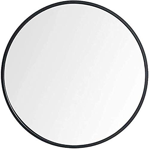 Huimei2Y 19.7 Inch Large Round Wall Mirror Black Circle Bathroom Round Mirror Wall-Mounted with Aluminum Alloy for Vanity Washrooms Bathroom Entryway Living Room