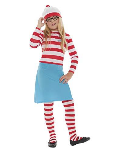 garçon Fille pour Enfants Où est Wally Charlie journée du Livre Déguisements Costume 4-12 Ans - Filles, 10-12 Years