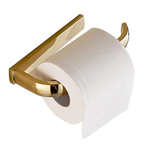 Weare Home Europäischer Stil Gold Messing Kupfer Wandhalterung befestigen Klopapierhalter Toilettenrollenhalter Toilettenpapierhalter Badezimmer Zubehör
