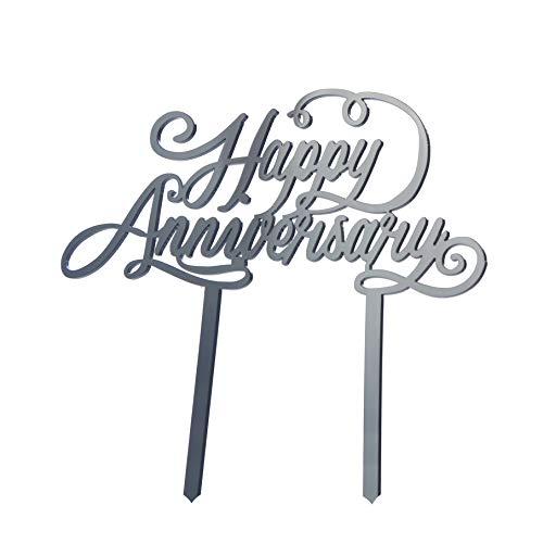 Miss Bakery's House® Cake Topper - Acryl - Happy Anniversary - Schwarz - Torte