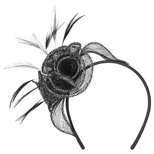 Seeberger Vamisa Roses Lurex Fascinator Haarschmuck Kopfschmuck Anlasshut (One Size - schwarz)