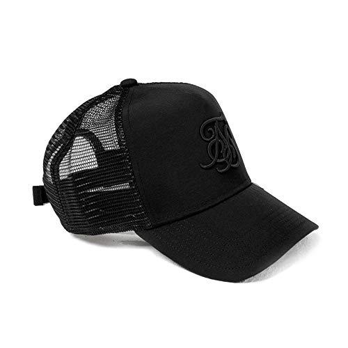 Sik Silk SS-15276 Bent Peak Mesh Trucker Cap - Black/Black Black