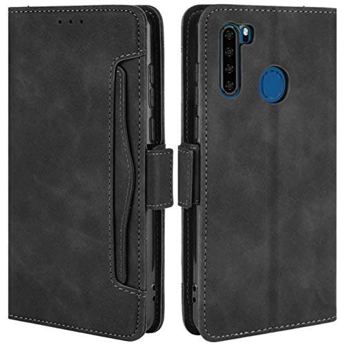 HualuBro Handyhülle für Blackview A80 Pro Hülle, Blackview A80 Plus Hülle Leder, Flip Case Cover Stoßfest Klapphülle Handytasche Schutzhülle für Blackview A80 Pro Tasche (Schwarz)