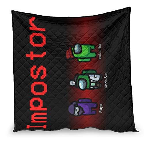 YshChemiy Imporstor among us Colcha de algodón para interior de la cama manta suave manta diseñada colcha mujeres hombres blanco 230x260cm