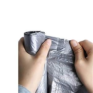 ZZBMKJ Bolsa de basura con cordón gris plateado Bolsa de basura con cierre automático plateado espacial 45 * 50Cm * 150