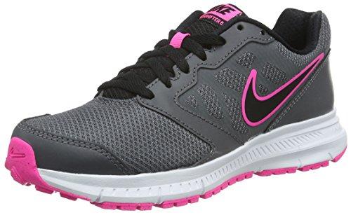 Nike Wmns Downshifter 6, Zapatillas de Running Mujer, Gris (Dark Grey/Black-Pink Blast-Wht), 44 1/2