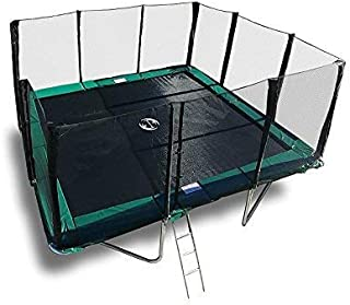 Best Trampoline USA - Galactic Xtreme Gymnastic Rectangle Trampoline with Safety Net Enclosure Heavy Duty Commercial Grade - 550 lbs Jumping Capacity Frame & Springs, 14 X 16 Ft