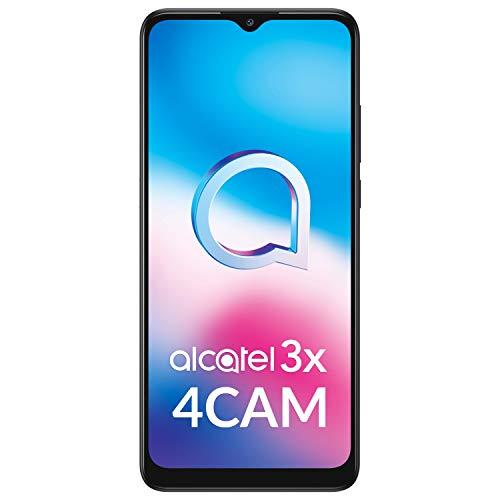 "Alcatel 3X - Smartphone 6.52"" (Procesador octacore, 6GB RAM + 128GB ROM, Ampliable microSD, 4x cámaras 48MP +5MP+2MP+2MP + Frontal 13MP, batería 5000mAh) Negro [Versión ES/PT]"
