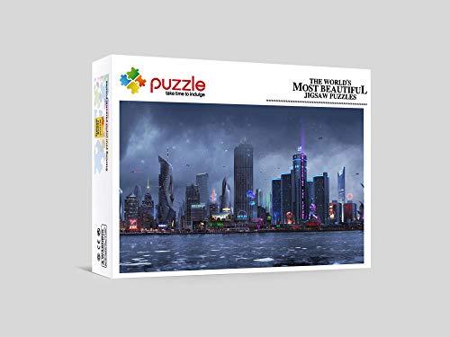 RNGNB Jigsaw Puzzle 1000 Piezas Puzzle Adultos Educa Puzzle Regalos De Niños para Niños Y Adultos Ciudad De Agua 52Cm X 38Cm
