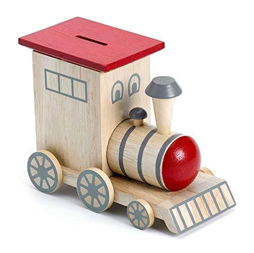 Mousehouse - Spardose - Holz-Zug - Geschenk für Jungen/Mädchen/Erwachsene