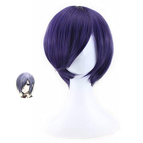 WerNerk Anime Tokyo Ghoul Character Play Cosplay Wigs Anime Hair Synthetic Hair(Touka Kirishima)