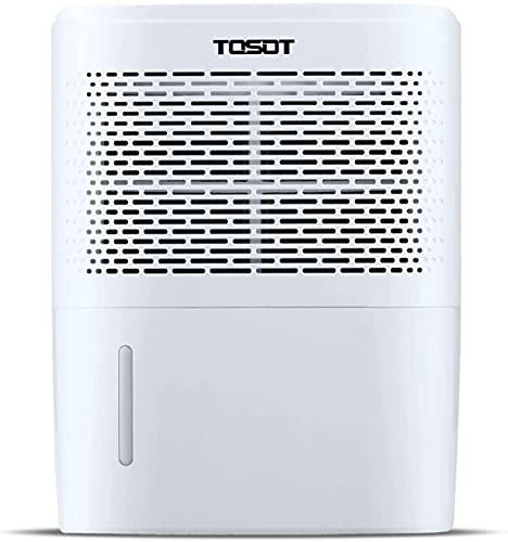TOSOT Petal Portable Home Luftentfeuchter mit digitaler Feuchtigkeitsanzeige, Feuchtigkeits- und Schimmelentfernung für zu Hause, Schlafmodus, kontinuierliche Entwässerung, 24-Stunden-Timer…