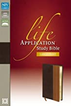 NIV, Life Application Study Bible, Second Edition, Large Print, Leathersoft, Brown/Tan, Red Letter Edition, Thumb Indexed