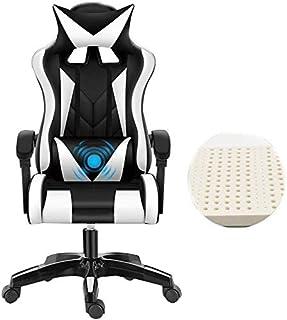 GSN Silla de oficina ordenador silla reclinable ergonómica Racing incorporado látex Cojín ergonómico giratorio equipo silla de escritorio de cuero ajustable Altura de escritorio silla for juegos poltr