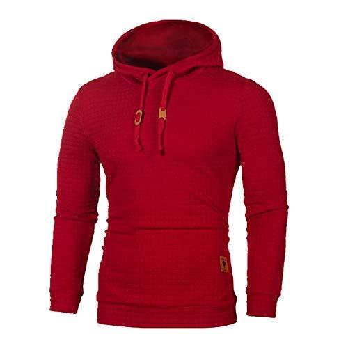 N\P Sudadera con capucha para hombre, casual, talla grande, 5XL, color puro, otoño e invierno