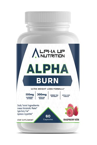 Alpha Burn - Premium Weight Loss Supplement, Thermogenic Fat Burner, Appetite Suppressant for Weight Loss, Raspberry Ketones, African Mango, Green Tea Extract, Apple Cider Vinegar Capsules, Keto Pills