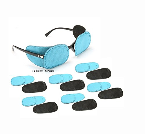 Hayatec 12 parches médicos de oclusión para llevar en gafas, para niños, para tratar el estrabismo o trastornos de 1 ojo