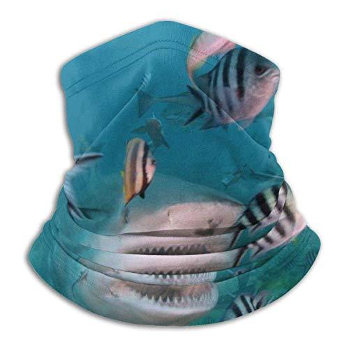 Shark and Belle Fish Neck Gaiter Warmer Windproof Face Shield Scarf Magic Balaclava Outdoor Sports