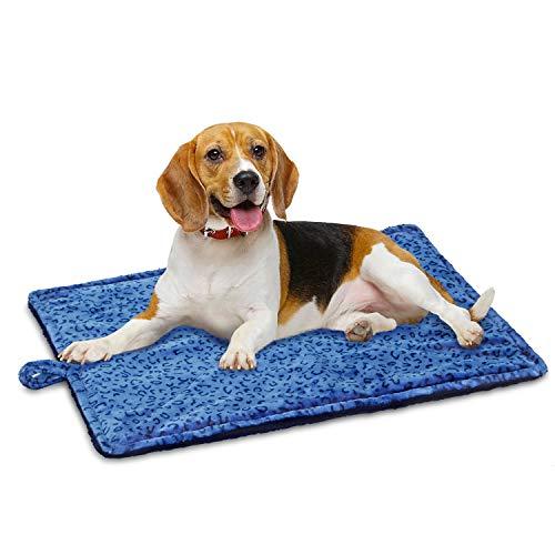 Marunda Super Soft Crate Mats,Reversible Fleece Dog Crate Kennel Pad,Machine Wash & Dryer Friendly-Anti-Slip Pet Beds for Pets Sleeping