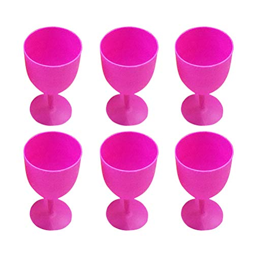 TOYANDONA 12pcs ABS Margarita Glasses Cups Cocktail Cups Colored Goblet Wavy Pattern Cups Juice Cocktail Cups for Carnivals Festivals Wedding Birthdays Party Favors (Random Color)