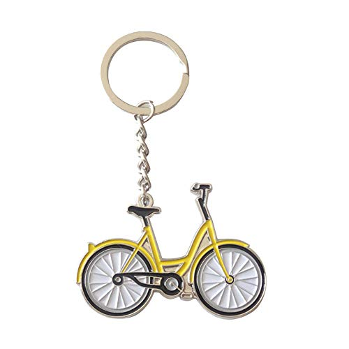 2 Stück, Schlüsselanhänger, Cartoon Fahrrad Schlüsselanhänger
