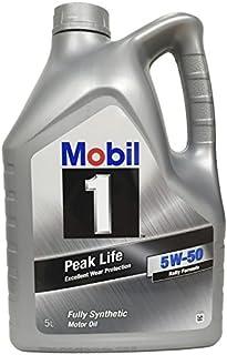 Mobil 1 Aceite de Motor nbsp;Peak Life 5W-50, 5litros