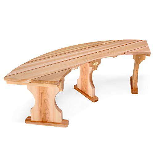 All Things Cedar QR60 Quarter Round Bench