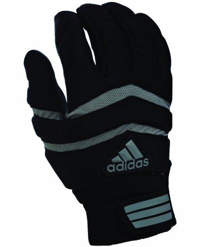 adidas Big Ugly 1.0 Youth Padded Football Lineman Gloves, Medium, Black/Gray