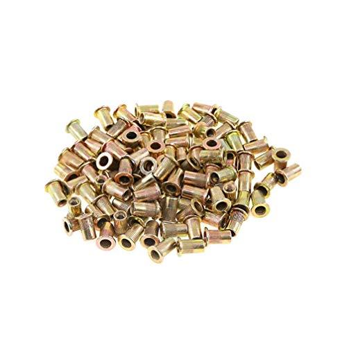 Rivet Nut Zinc Plated Carbon Steel M4 Flat Head Metric Threaded Rivetnut Insert Standard Blind Nutsert(300pcs)