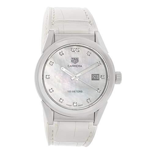 Tag Heuer Carrera - Reloj de pulsera para mujer con esfera de nácar con diamante WBG1312.FC6412