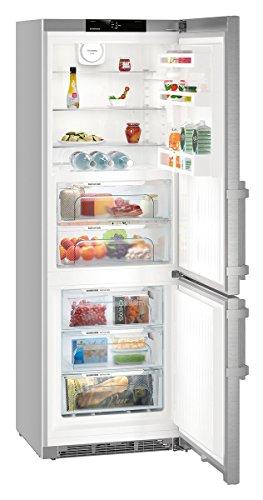 Liebherr CBNef 5715 Kühlschrank mit Gefrierschrank freistehend Silber 381 L A+++