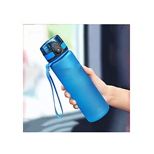 GYN Botella de Agua para Deportes Calientes 500ML 1000ML Coctelera de Proteínas Viajes al Aire Libre Portátil a Prueba de Fugas Vasos de Plástico Mi Bebida Botella Sin BPA,Blue,800ml