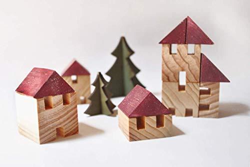 Juego de Construcción de madera reciclada