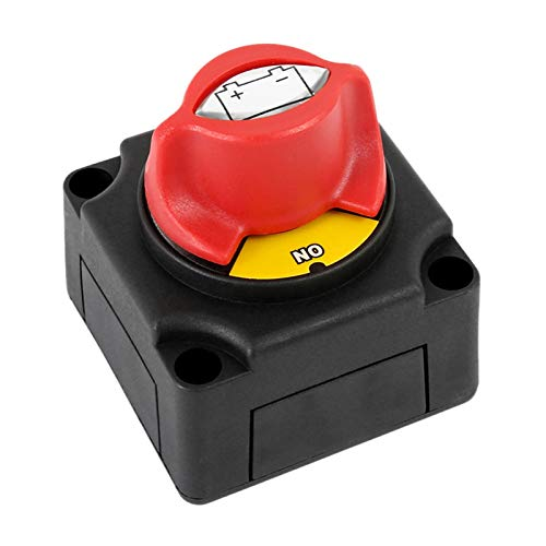 Wishful AUTOMOTOR 300A Aislador de batería Desconector Interruptor de Circuito Desconectar Interruptor Ajuste para Barcos de automóvil Yate ATV (Color : Black and Red)