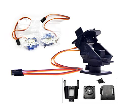 Pan Tilt 2 Axis FPV Camera Gimbal Mount Bracket W/ 2 Servos Support for Arduino and Raspberry Pi Motion Control Ultrasonic Sensor Mounting RC FPV Plane Fixed-Wing Drone