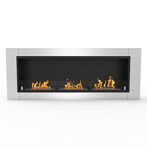 %25 OFF! Regal Flame Lenox 54 Inch Ventless Built in Recessed Bio Ethanol Wall Mounted Fireplace