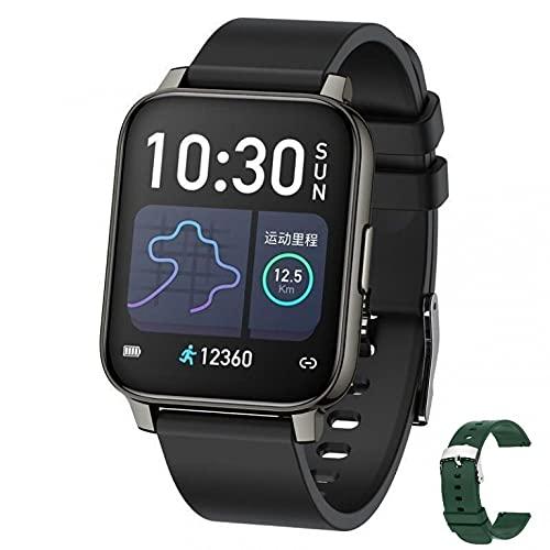 W2 Smartwatch für Damen & Herren mit 1,69 Zoll Full Touch Screen - Fitnessuhr: Multisport Fitness Tracker, Schrittzähler, Pulsuhr, Schlafmonitor, Stoppuhr, IP67 Wasserdicht, Android & iOS (Schwarz)