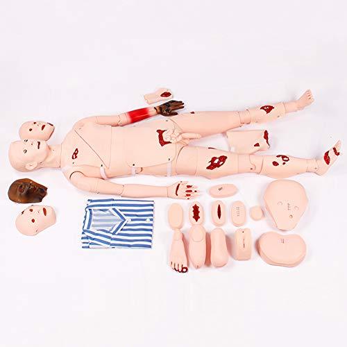 SHUAI Schaufensterpuppe für die medizinische Versorgung, simulierte Wunde, Erste-Hilfe-Trauma, Verbandstrainingsmodell für Krankenpfleger, Krankenpflegetraining 1.7M