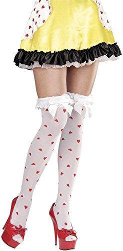 Widmann 01303 - 1 paar sokken parisen met strik en decoratie met hart