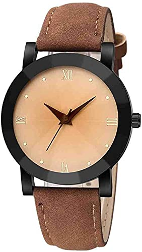 Mano Reloj Reloj reloj reloj hombres unisex cuarzo deporte militar acero inoxidable dial banda de cuero reloj de pulsera hombres mujer reloj regalo de reloj Relojes Decorativos Casuales ( Color : B )