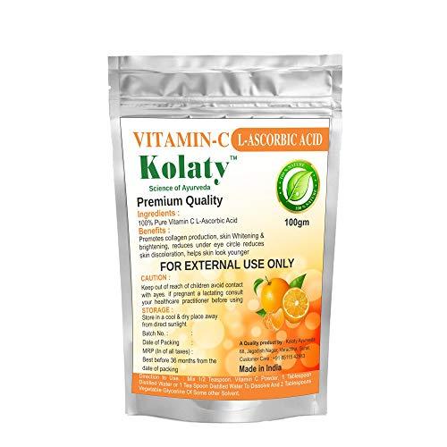 Kolaty 100% Pure Organic Vitamin C Powder for Skin Whitening