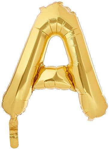 40 cm Air Remplissez Lettre A Ballon de feuille d'or (vendu non gonflé)