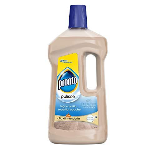 Pronto Legno Pulito Superfici Opache, Detergente Liquido per Pavimenti in Legno Opaco, Fragranza Olio di Mandorla, 3 Confezioni da 750 ml