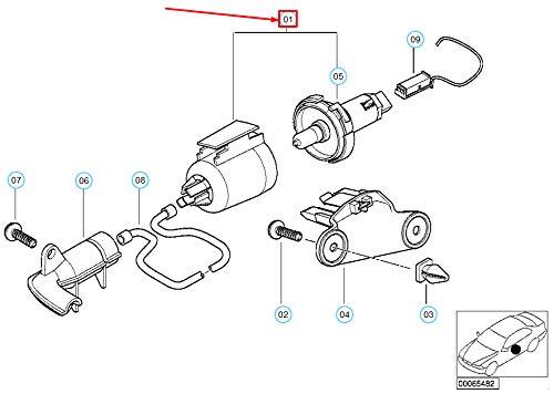 GTV INVESTMENT 7 E38 Türgriffbeleuchtung 63318380171 8380171