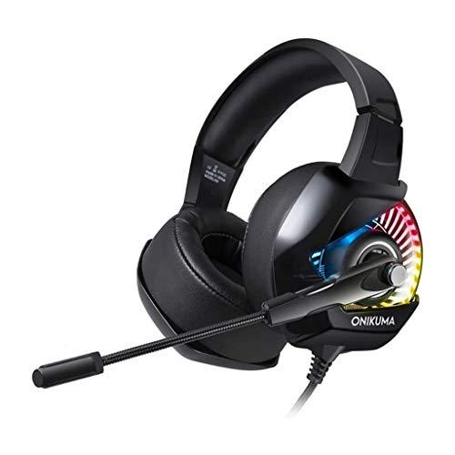 UNU_YAN Casque Gaming Headset avec Son Surround 7.1, PS4 Casque avec Microphone antibruit, Compatible avec PC, PS4, Xbox One Contrôleurs
