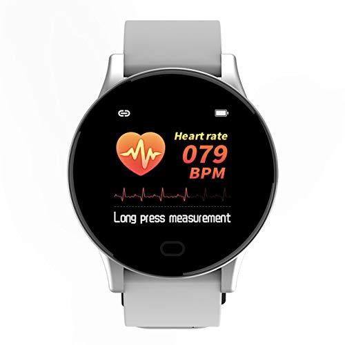 UIEMMY Pulsera Inteligente Recordatorio de Mensaje Temperatura Corporal Monitoreo de la Salud IP67 Rastreador Deportivo Impermeable, Gris