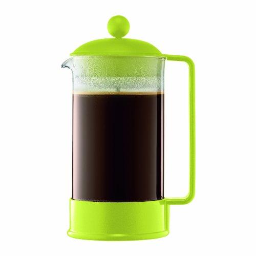 Bodum BRAZIL Kaffeebereiter French Press Kaffeemaschine, 1-Liter, grün von Bodum